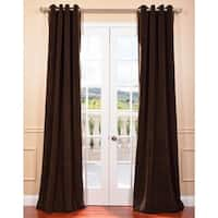 Exclusive Fabrics Java Grommet Velvet Blackout Curtain Panel
