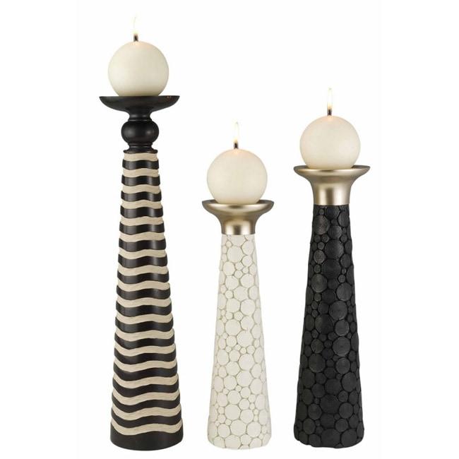 African Craft Candleholder (Set of 3)