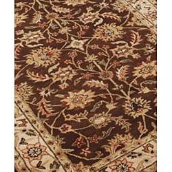 Alliyah Handmade Brown 100 Percent New Zealand Wool Rug (8' x 10')