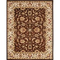 Alliyah Handmade Brown New Zealand Wool Rug (5' x 8')