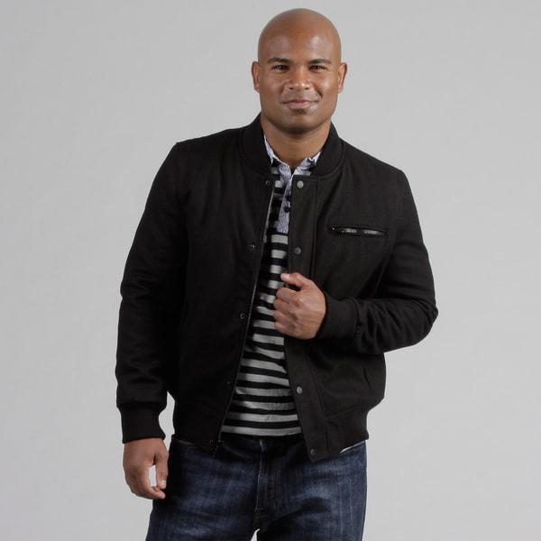 Black Rivet Men's Varsity Wool Blend Jacket