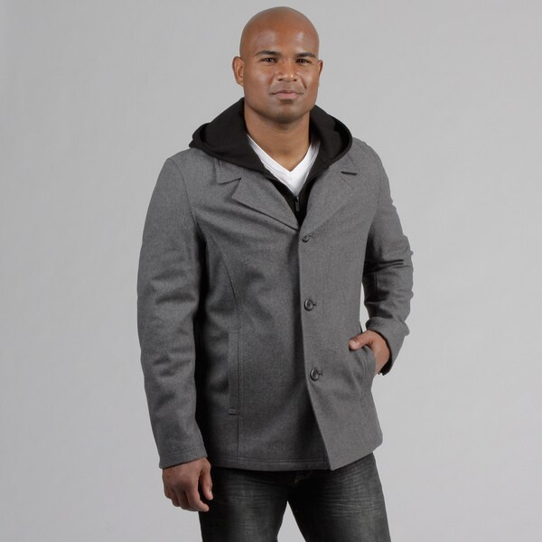 Black Rivet Men's Hooded Jacket