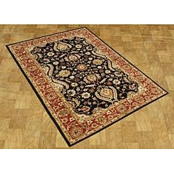 Alliyah Handmade Black New Zealand Blend Wool Rug (5' x 8') - Thumbnail 2