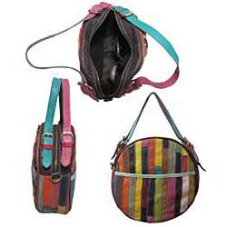 Amerileather 'Dream Catcher' Leather Shoulder Bag - Thumbnail 1