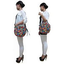 Amerileather 'Dream Catcher' Leather Shoulder Bag - Thumbnail 2