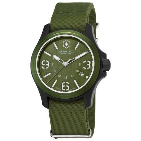 Victorinox Swiss Army Men's Original Green Dial/ Strap Watch