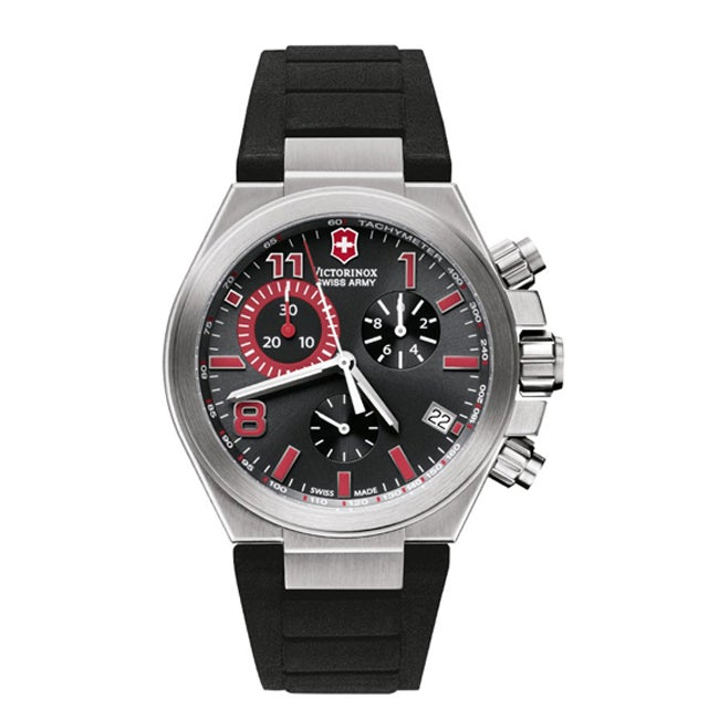 Victorinox Swiss Army Men's Convoy Black/ Red Dial Chrono Watch