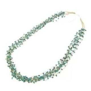 Handmade Thread Turquoise Enchantment Multistrand Necklace (Thailand)