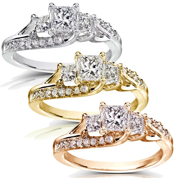 Annello by Kobelli 14k Gold 1ct TDW Diamond Engagement Ring