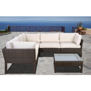 Atlantic Majorca 6-piece Wicker Sectional