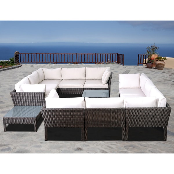 Atlantic Majorca 12-piece Wicker Sectional