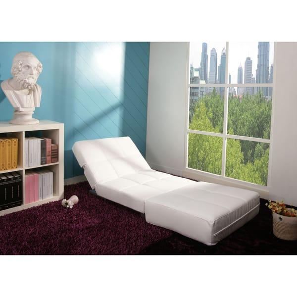 Strange Shop New York White Convertible Chair Bed Free Shipping Inzonedesignstudio Interior Chair Design Inzonedesignstudiocom