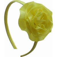 Bow Clippeez 2 Envy Girl's Satin Ruffle Flower Headband