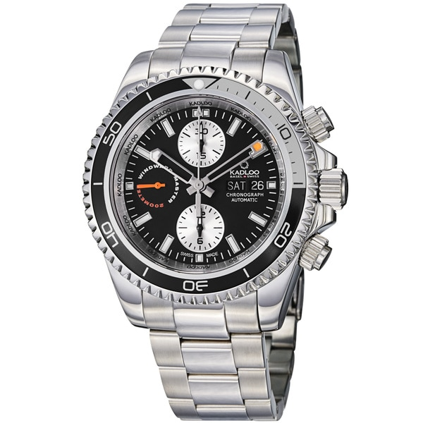 Kadloo Men's 'Windward Master' Stainless Steel Automatic Watch