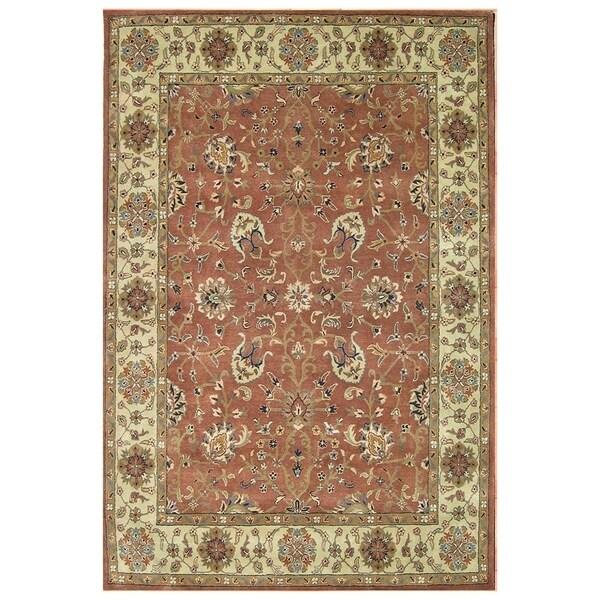 Alliyah Hand-Made Rust New Zealand Blend Persian Wool Rug (9' x 12') - 9' x 12'