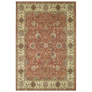 Alliyah Hand-Made Rust New Zealand Blend Persian Wool Rug (9' x 12')