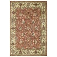 Alliyah Hand-Made Rust New Zealand Blend Persian Wool Rug (9' x 12')
