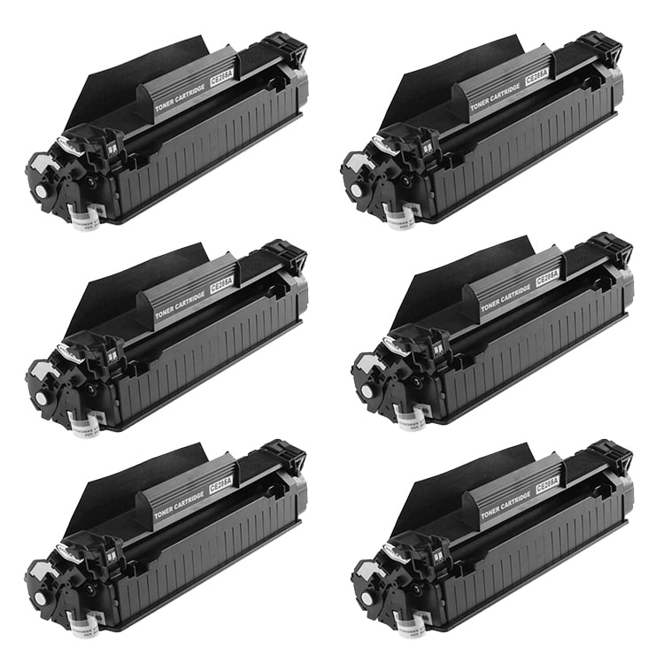 Hewlett Packard CE285A Black Toner Cartridges (Pack of 6) (Remanufactured) - Thumbnail 0