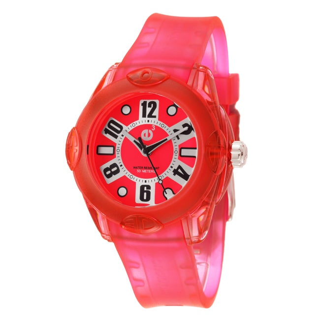 Tendence Women's 'Rainbow' Pink Polycarbonate Quartz Watch