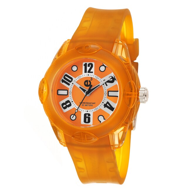 Tendence Women's 'Rainbow' Orange Polycarbonate Quartz Watch