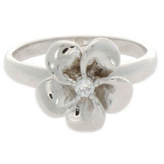 Nexte Jewelry CZ Center Stone Flower Ring