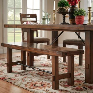 Swindon Rustic Oak Turnbuckle Dining Bench by iNSPIRE Q Classic https://ak1.ostkcdn.com/images/products/6780311/P14319134.jpg?impolicy=medium