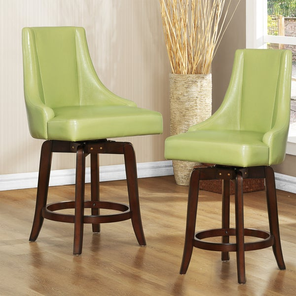 Shop Tribecca Home Watson 24 Inch Counter Height Chair: Shop Tribecca Home Vella Green Swivel 24-inch Counter
