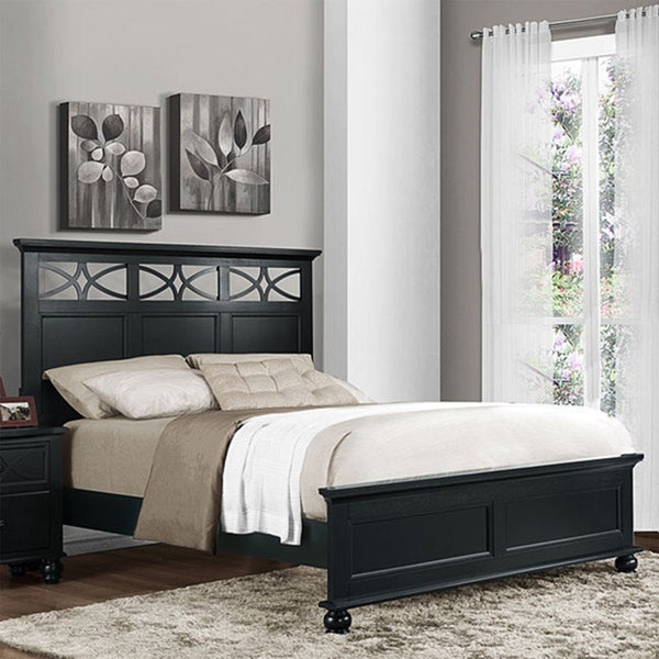 TRIBECCA HOME Piston Black Modern Cottage Twin-size Low Profile Bed