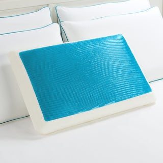 Comfort Memories Blue Wave Memory Foam and Gel Bed Pillow