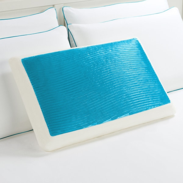 Comfort Memories Blue Wave Memory Foam and Gel Bed Pillow