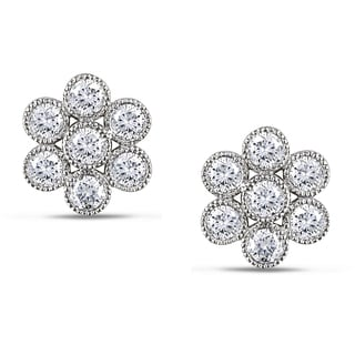 Miadora 14k White Gold 1ct TDW Diamond Stud Earrings