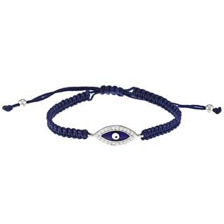 La Preciosa Sterling Silver CZ 'Evil Eye' Bracelet