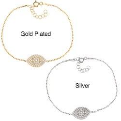 La Preciosa Sterling Silver and Cubic Zirconia Marquise Bracelet