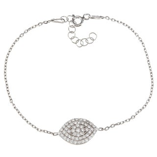 La Preciosa Sterling Silver and Cubic Zirconia Marquise Bracelet (2 options available)