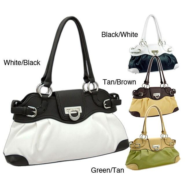 Dasein Two-tone Shoulder Bag