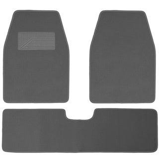 Light Grey 3-piece Floor Mat Set