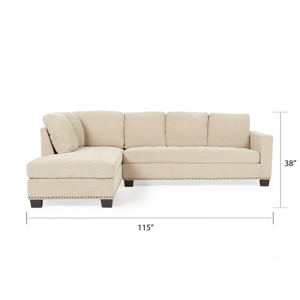 Abbyson Claridge Fabric Sectional   Free Shipping Today   Overstock.com    14319249