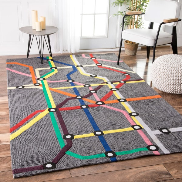 nuLOOM Handmade Kids' Subway Map Wool Rug (5' x 7')