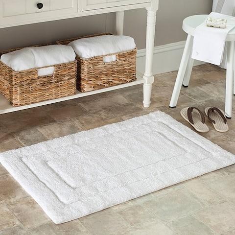 Safavieh Spa 2400 Gram Journey White 21 x 34 Bath Mats (Set of 2) - 21 x 34