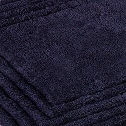Safavieh Spa 2400 Gram Luxury Navy 27 x 45 Bath Rug (Set of 2) - Thumbnail 1