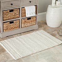 Safavieh Spa 2400 Gram Plush Natural 27 x 45 Bath Rug (Set of 2) - 27' x 45'