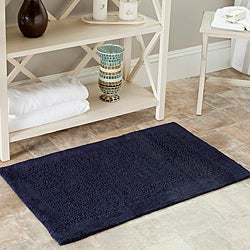 Safavieh Spa 2400 Gram Serenity Navy 21 x 34 Bath Rug (Set of 2)