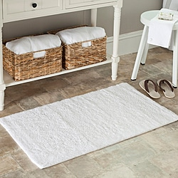 Safavieh Spa 2400 Gram Serenity White 27 x 45 Bath Rug (Set of 2) - Thumbnail 0