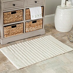 Safavieh Spa 2400 Gram Stripes Natural 21 x 34 Bath Rug (Set of 2) - Thumbnail 0
