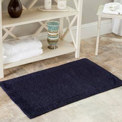 Safavieh Spa 2400 Gram Resorts Navy 27 X 45 Bath Rug Set Of 2