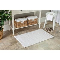 Safavieh Spa 2400 Gram Resorts White 21 x 34 Bath Rug (Set of 2) - 1'7 x 2'8