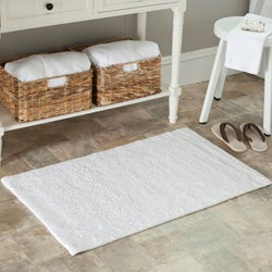 Safavieh Spa 2400 Gram Resorts White 27 x 45 Bath Rug (Set of 2) - 27 x 45