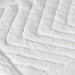 Safavieh Spa 2400 Gram Diamonds White 27 x 45 Bath Rug (Set of 2) - Thumbnail 1