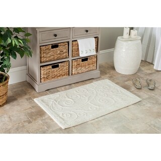 Safavieh Spa 2400 Gram Scrolls Natural 27 x 45 Bath Rug (Set of 2) - 27 x 45