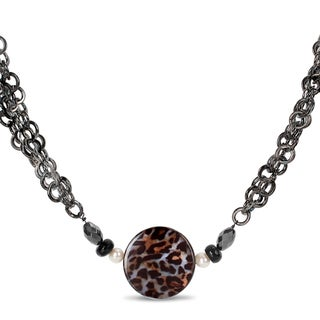 M by Miadora Goldtone Leopard Print 28-inch Fashion Necklace